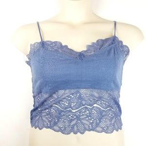 Free People Intimately Lacey Cami Bralette Size L